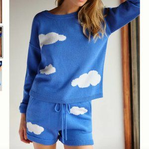 NWT Anthropologie Clouds Sweater Set